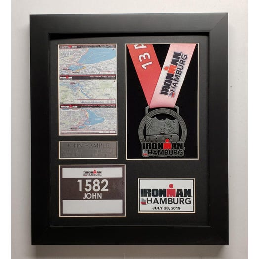 2019 IRONMAN Hamburg Finisher Display