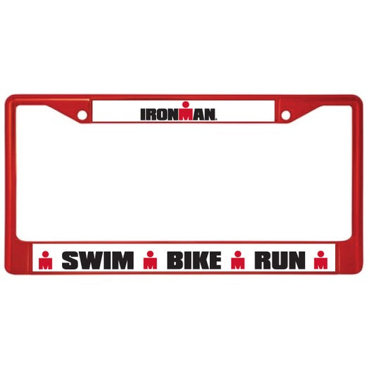 IRONMAN LICENSE PLATE FRAME