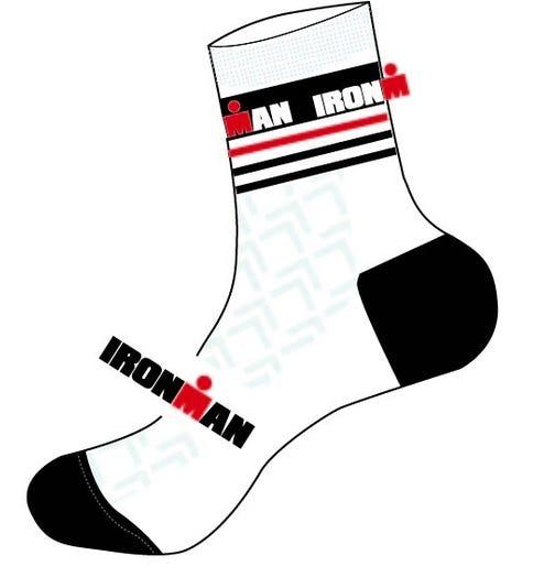 IRONMAN Cycle Sock - White - Large