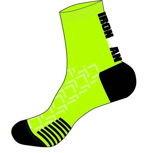 IRONMAN RPM Cycle Sock - Black/Lime