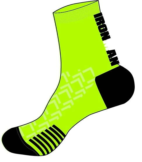 IRONMAN Cycle Sock - Lime - Large