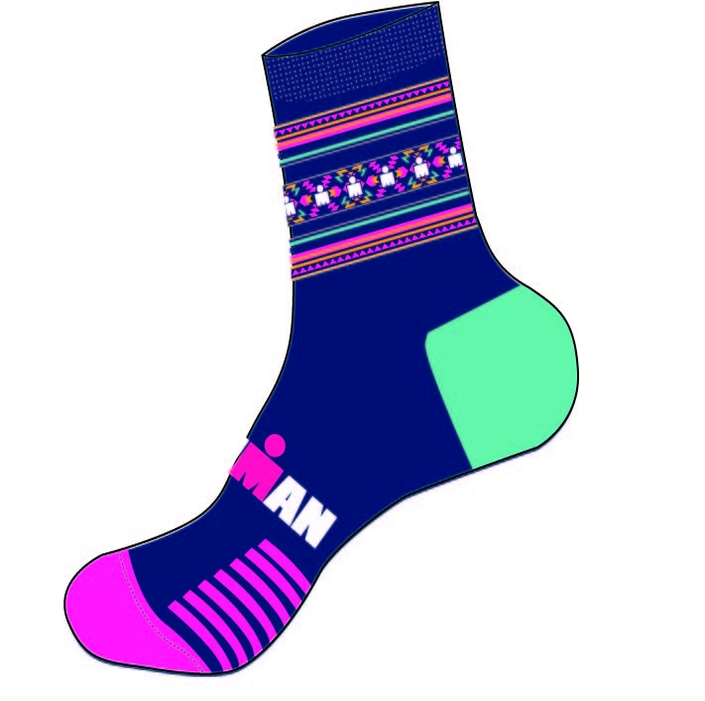IRONMAN Cycle Sock - Southwest - Medium