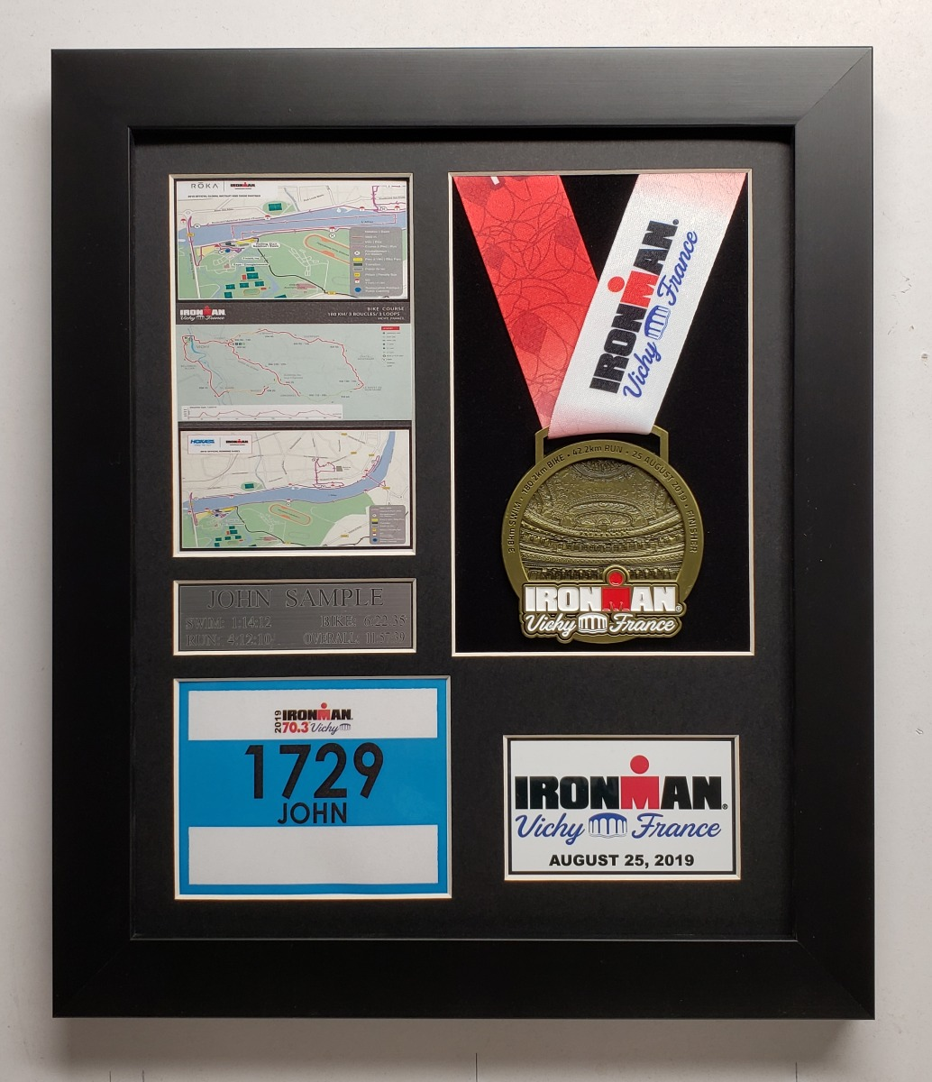 2019 IRONMAN Vichy Finisher Display