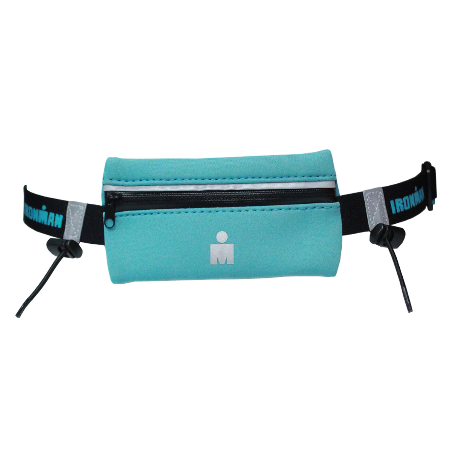 IRONMAN Zip Pouch Race Belt - Turquoise