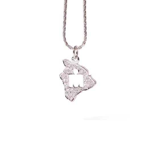 IRONMAN World Championship M-DOT Pendant - White Gold with .32 ct Diamonds