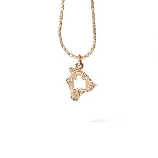 IRONMAN World Championship M-DOT Pendant - Yellow Gold with .10 ct Diamonds
