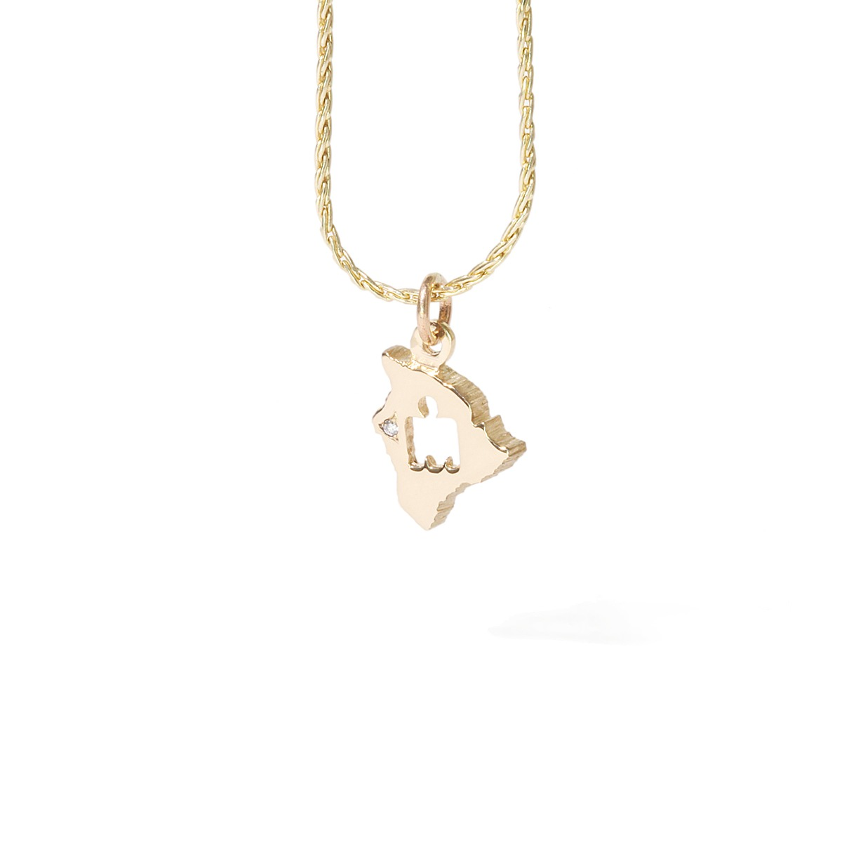 IRONMAN World Championship M-DOT Pendant - Yellow Gold with .01 ct Diamonds