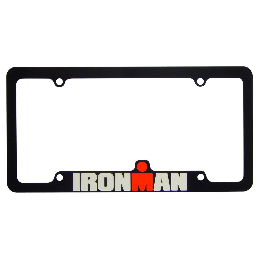 IRONMAN License Plate Frame - Black