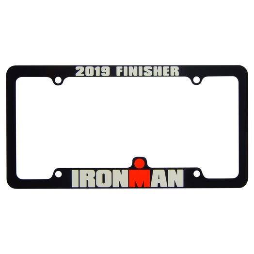 IRONMAN Personalized License Plate Frame - Black - Aircraft Grade Aluminum