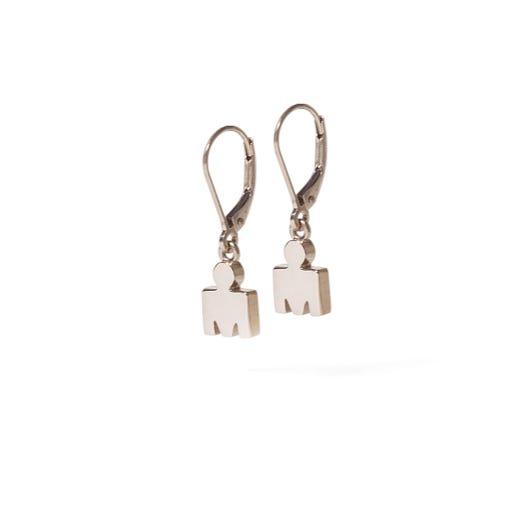 IRONMAN M-Dot 14KT Gold 7.5mm Leverback Earrings