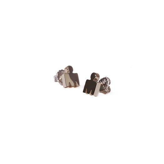 IRONMAN M-Dot 14KT Gold 7.5mm Stud Earrings
