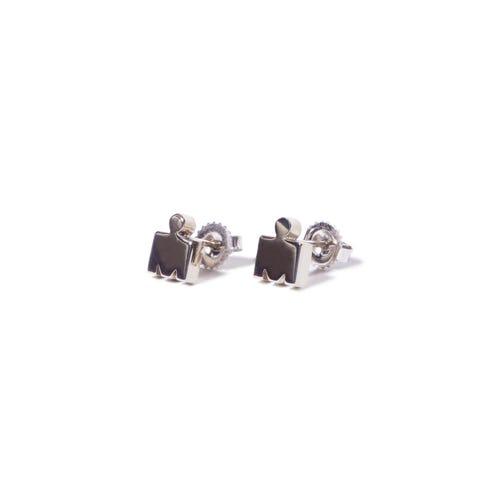 IRONMAN M-DOT Stud Earrings- 14KT White Gold