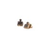 IRONMAN M-Dot 14KT Yellow Gold Stud Earrings