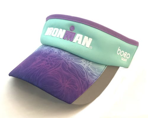 IRONMAN Floral Fade Turquoise Visor