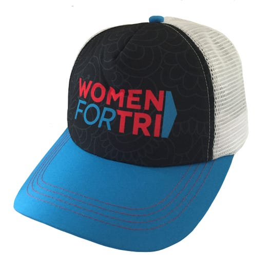 Women For Tri Flower Petal Trucker Hat - Black