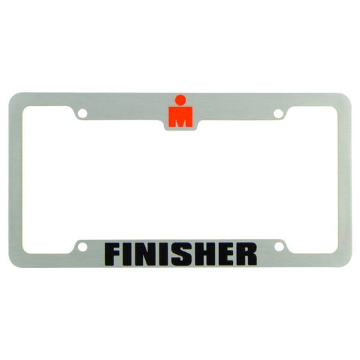 IRONMAN Finisher License Plate Frame - Silver - Aircraft Grade Aluminum