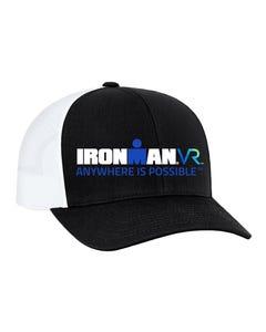 IRONMAN VR Custom Trucker Hat - Black with White