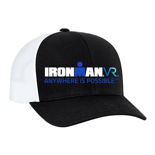 IRONMAN VR Custom Trucker Hat - Black with White