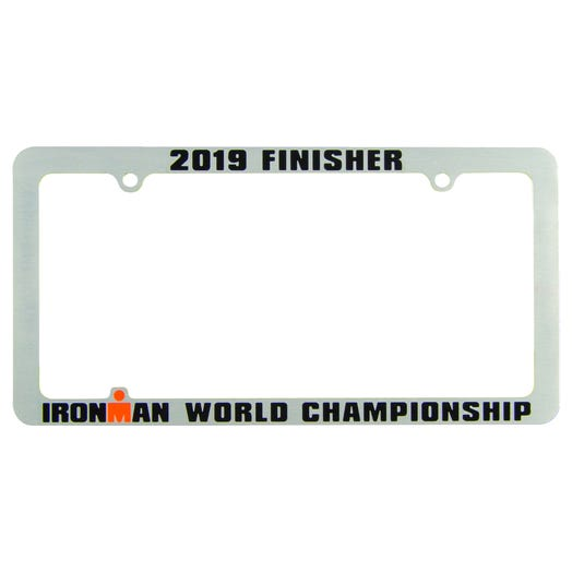 IRONMAN World Championship Personalized License Plate Frame - Silver