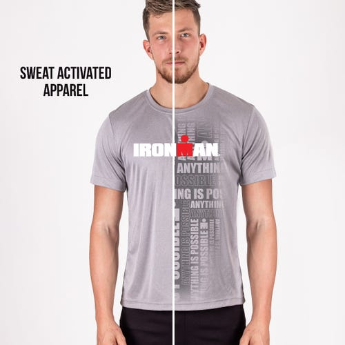 IRONMAN Men's Sweat-Activated In Training Shirt