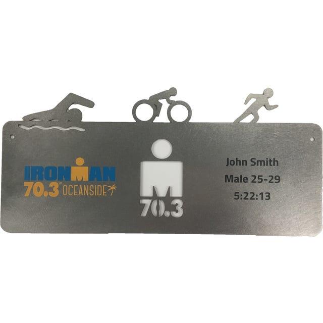 IRONMAN Personalized 70.3 SWIM, BIKE, RUN Plaque