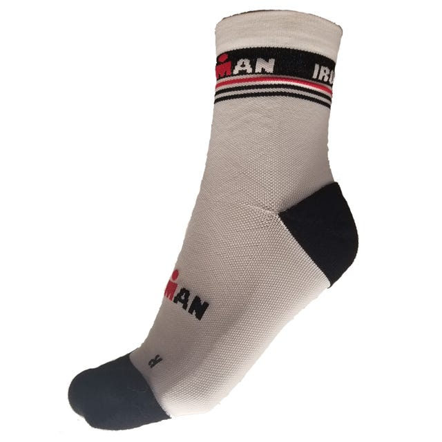 IRONMAN RPM Cycle Sock - White/Red
