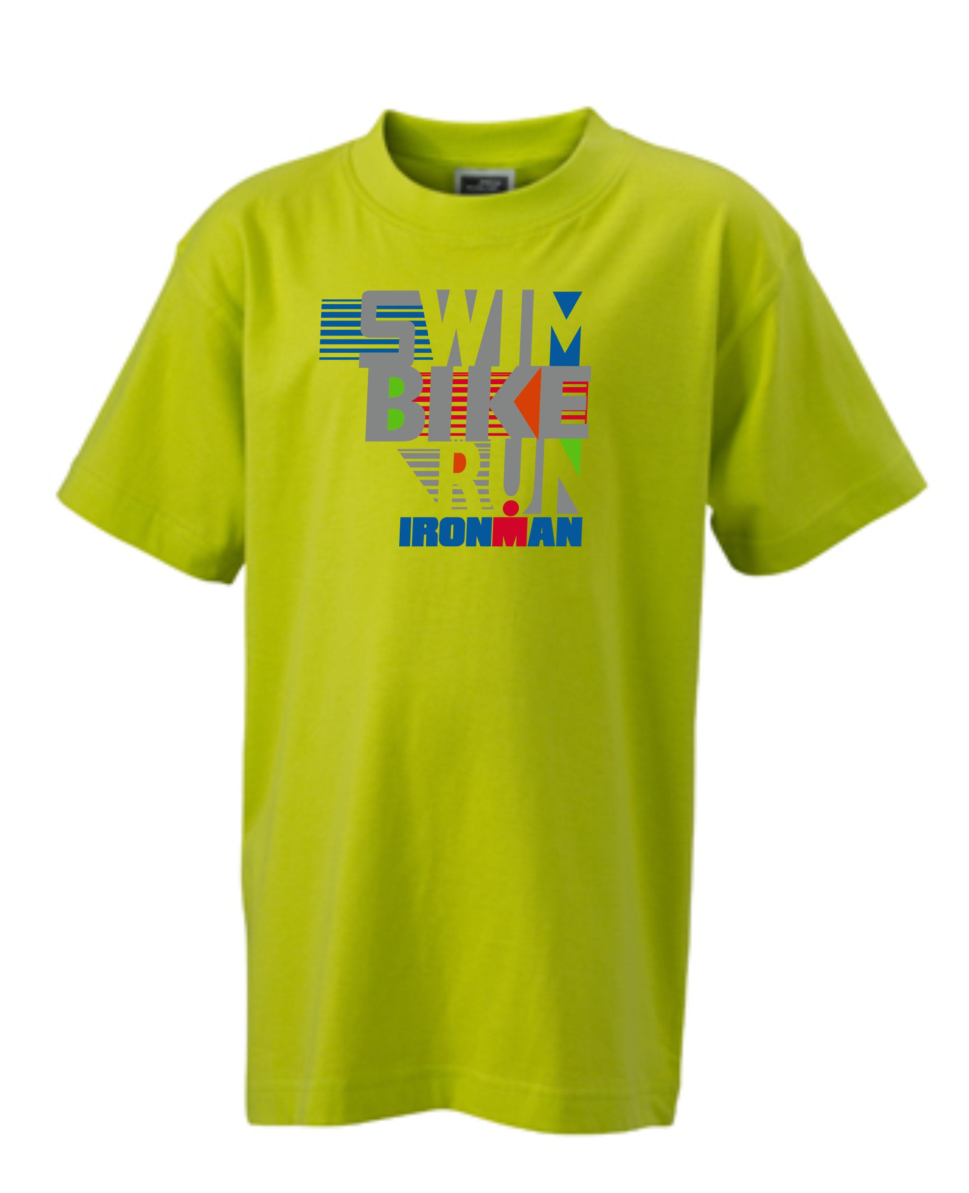 IRONMAN SWIM BIKE RUN Kids' Tee - yellow
