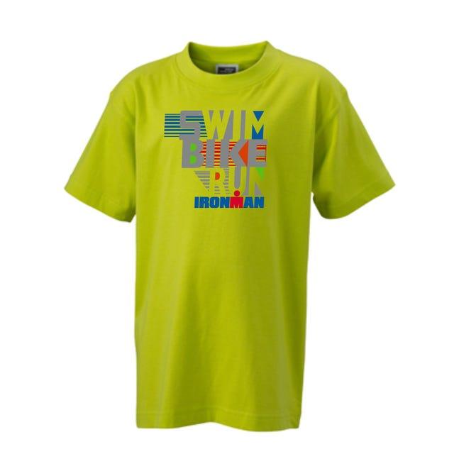 IRONMAN SWIM BIKE RUN Kids' Tee - yellow