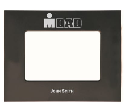 IRONDAD Laser Engraved Personalized Photo Frame - Black
