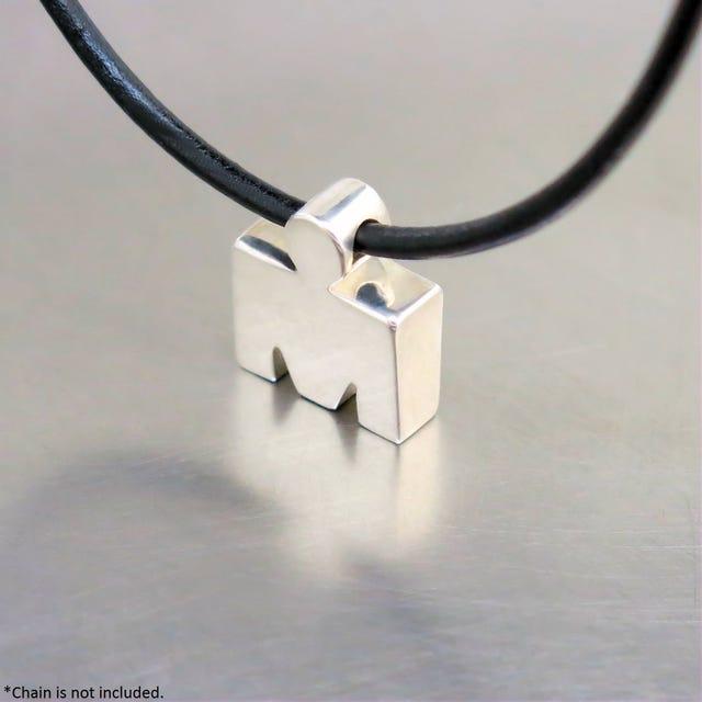 IRONMAN True Sterling Silver 3D M-DOT Pendant