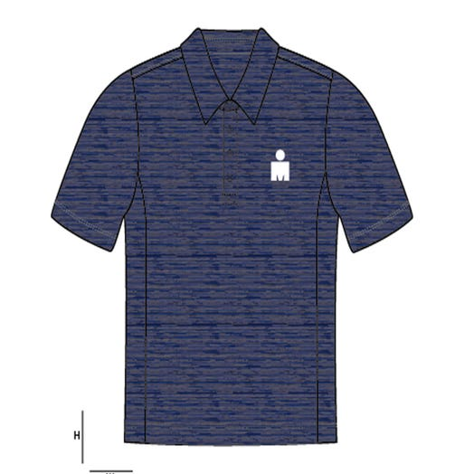 IRONMAN Men's Body Map Polo- Blue