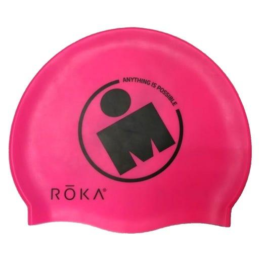 IRONMAN ROKA Silicone Swim Cap - Pink