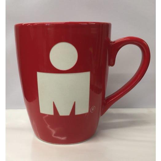 IRONMAN Etched Red Cafe Mug