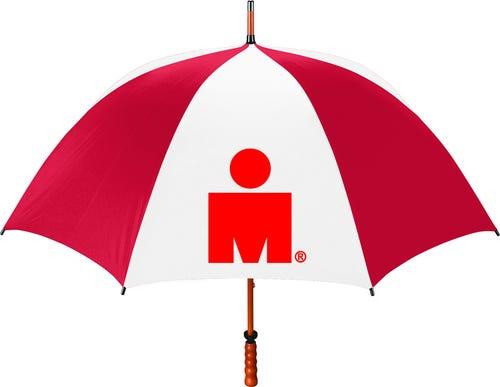 IRONMAN M-DOT Wood Umbrella