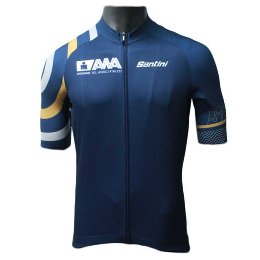 IRONMAN SANTINI MEN'S ALL WORLD ATHLETE CYCLE JERSEY