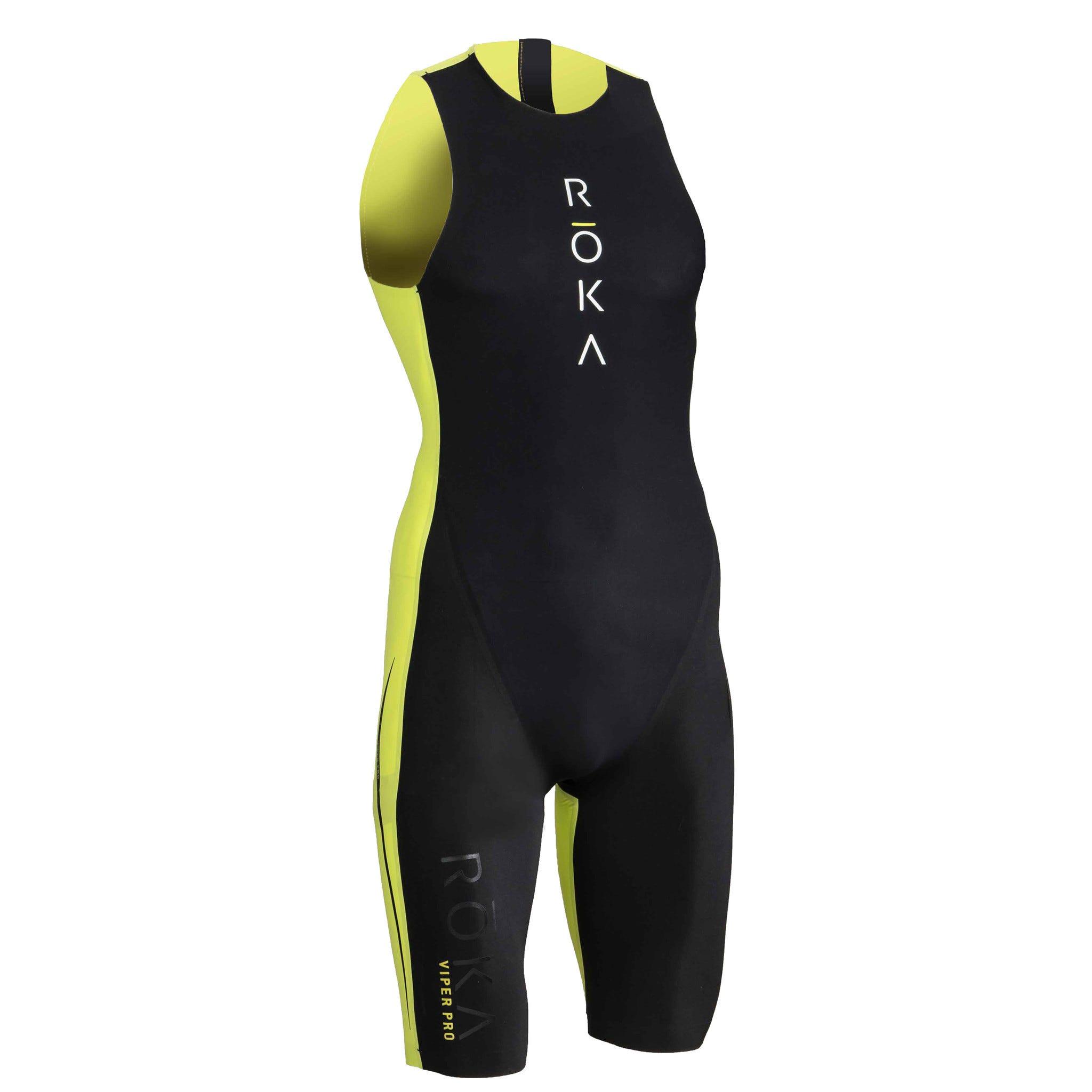 599979e1a5 IRONMAN ROKA Men's Viper Pro Swimskin-Black/Acid Lime