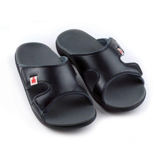 IRONMAN Men's HOA Slide Sandals - Black with Carbon