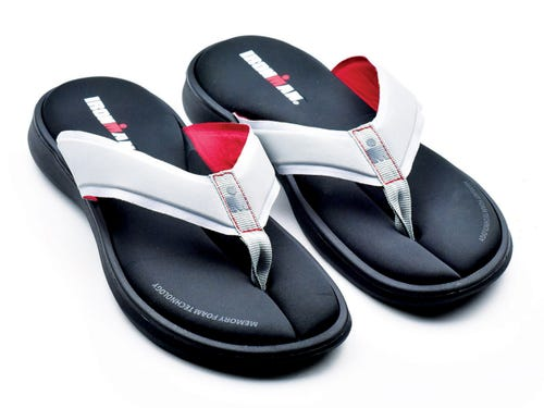 IRONMAN Men's LANISandals - Grey with Rosso