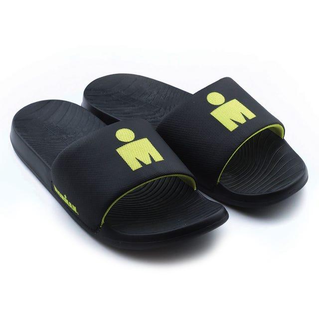IRONMAN Men's Makai Slide Sandals - Black with Citrus