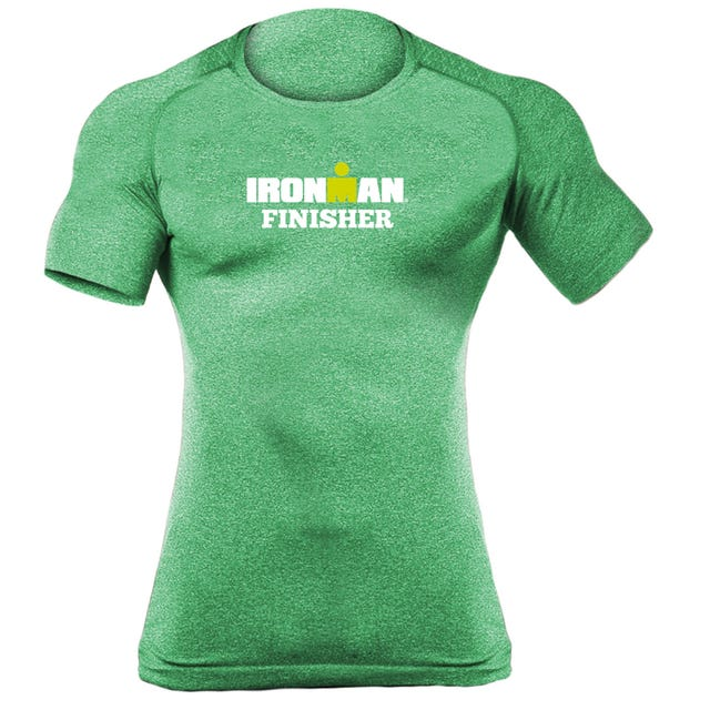 IRONMAN MEN'S CORE FINISHER BODY MAPPING SHORT SLEEVE TECH GREEN