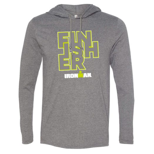 IRONMAN MEN'S FINISHER LONG SLEEVE TRIBLEND GREY