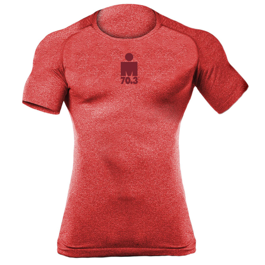 IRONMAN MEN'S MDOT 70.3 BODY MAPPING SHORT SLEEVE TECH RED