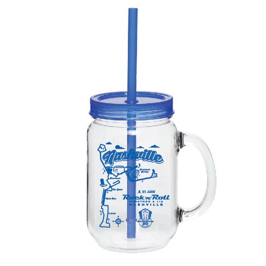 ROCK N ROLL MARATHON SERIES NASHVILLE 2019 EVENT MASON JAR