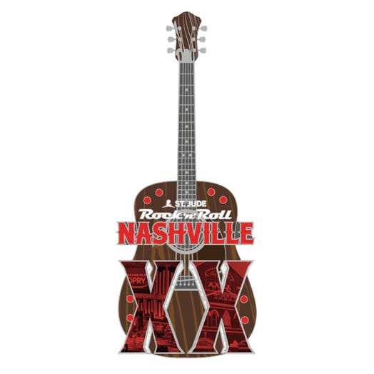 ROCK N ROLL MARATHON SERIES NASHVILLE 2019 EVENT MEDAL MAGNET