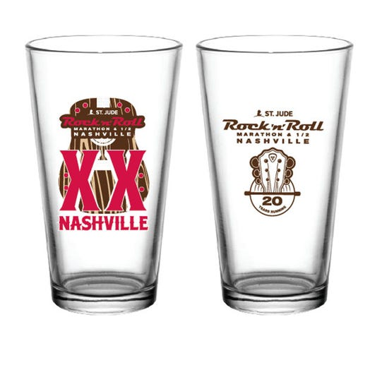 ROCK N ROLL MARATHON SERIES NASHVILLE 2019 EVENT PINT GLASS