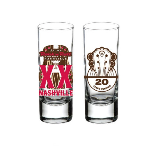 ROCK N ROLL MARATHON SERIES NASHVILLE 2019 EVENT SHOT GLASS