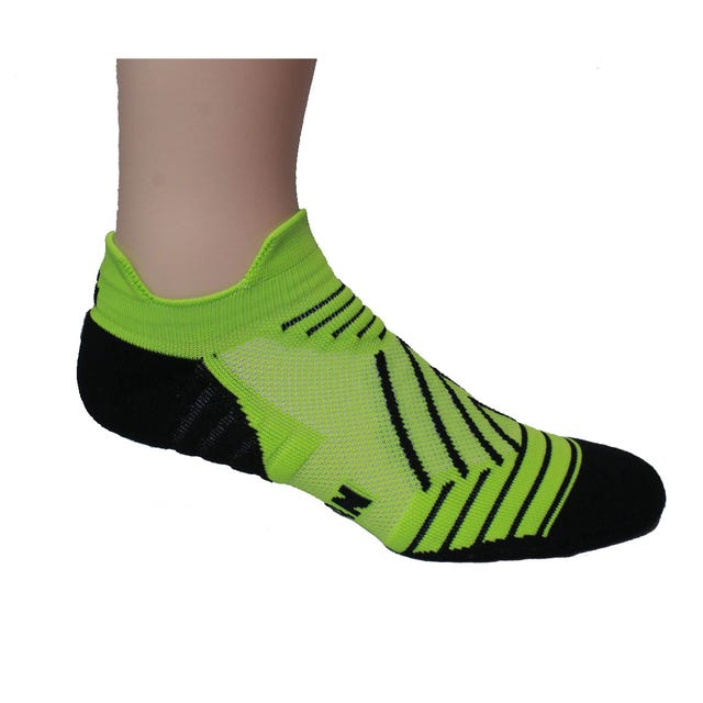 IRONMAN Hype No Show Sock - Lime - Large