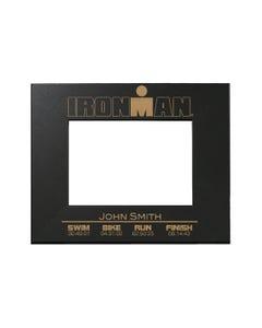 IRONMAN Finisher Personalized Photo Frame - Black