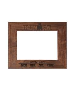 IRONMAN Finisher Personalized Photo Frame - Walnut