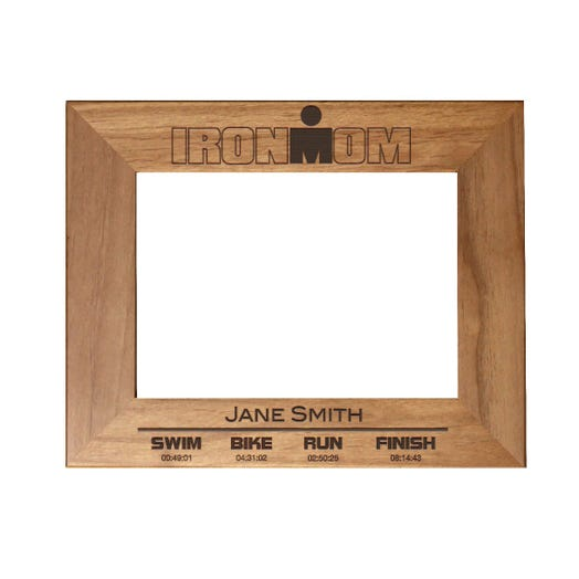 IRONMOM Finisher Personalized Photo Frame - Red Alder